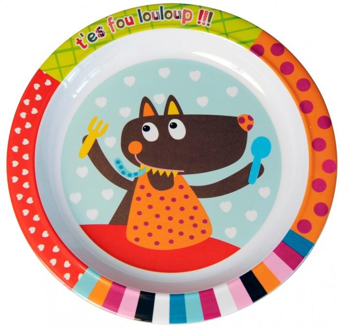 Посуда Ebulobo Тарелочка Волчонок каталки игрушки ebulobo волчонок