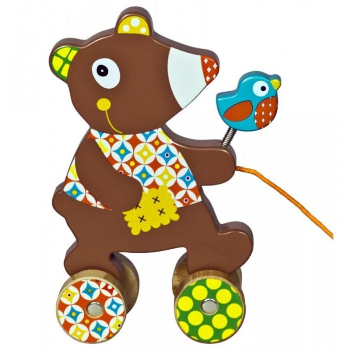 Каталки-игрушки Ebulobo Мишка деревянные игрушки ebulobo кубики мишка