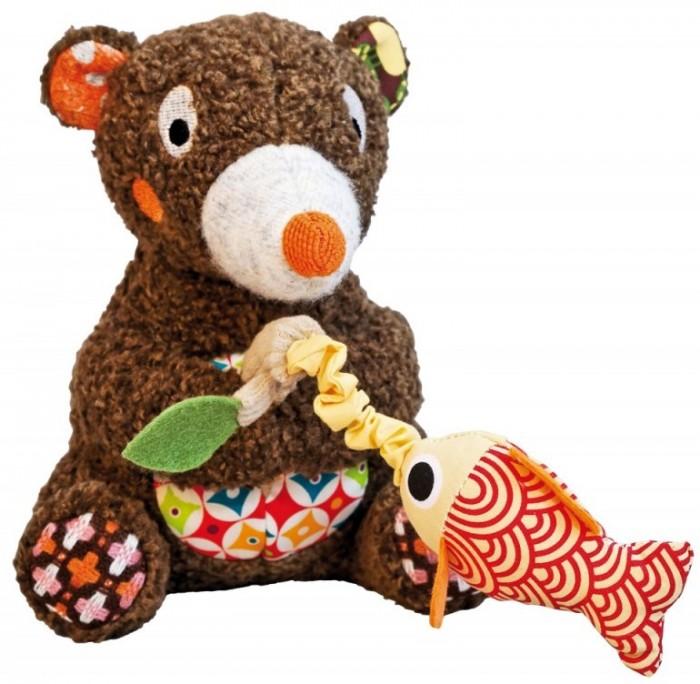 Музыкальные игрушки Ebulobo Мишка с рыбкой деревянные игрушки ebulobo кубики мишка