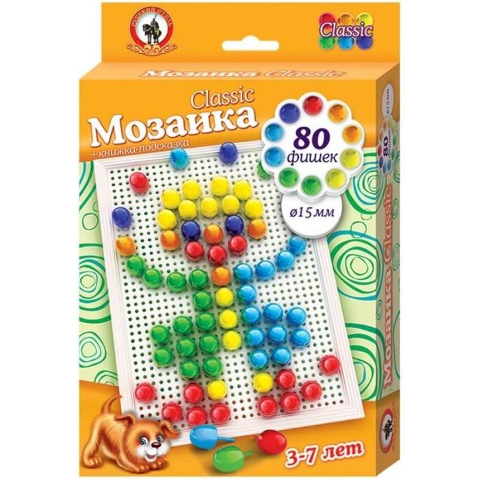 Мозаика Русский стиль Мозаика Classic Клоун 80 элементов D 15 мм Малая плата мозаика miniland 15 мм 160 элементов 6 картинок 31805