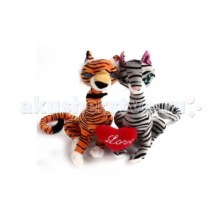 Мягкая игрушка Fluffy Family Влюбленная пара с сердцем 29 см