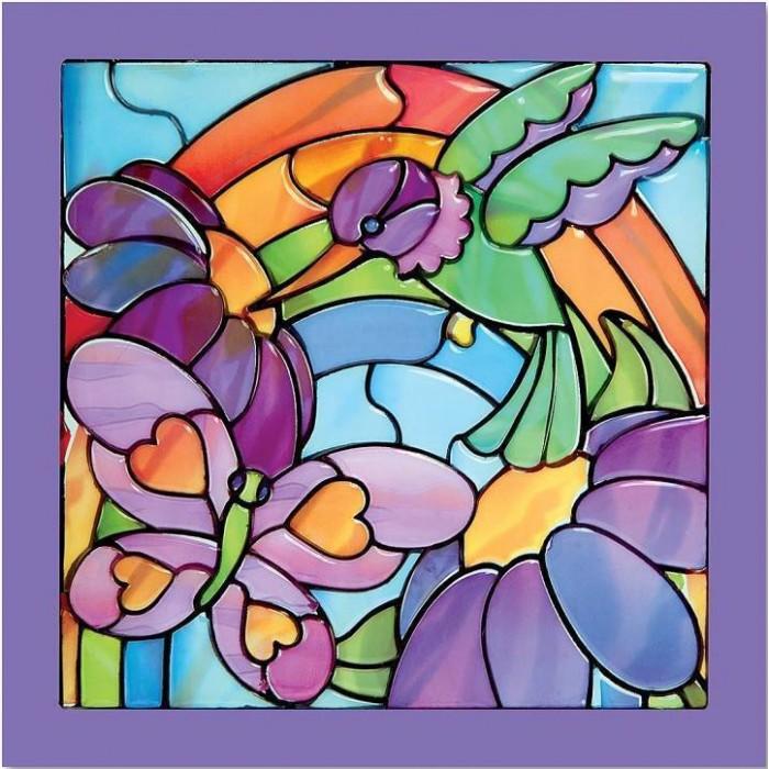 Мозаика Melissa & Doug Мозаика витраж Радуга в саду мозаика melissa