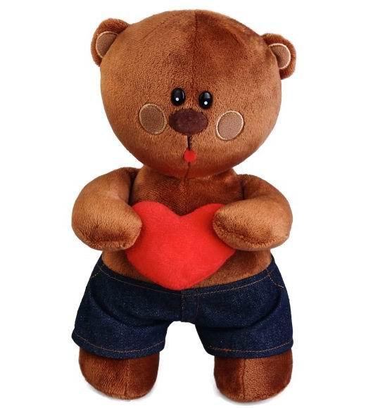 Мягкая игрушка Fluffy Family Мишка В восторге 25 см