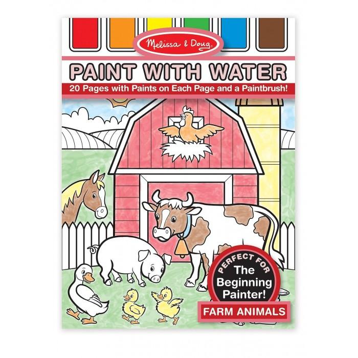 Раскраски Melissa & Doug Рисуем водой Ферма раскраски melissa