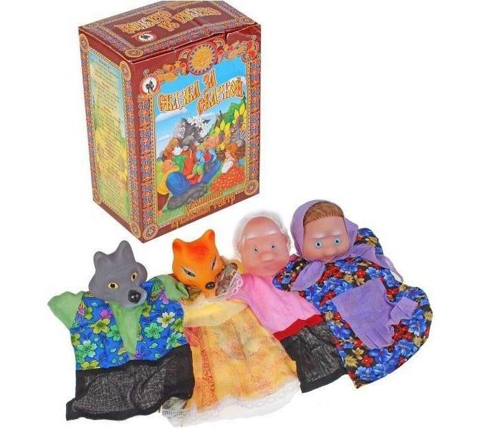 Картинка для Ролевые игры Русский стиль Кукольный театр Волк и Лиса 4 персонажа