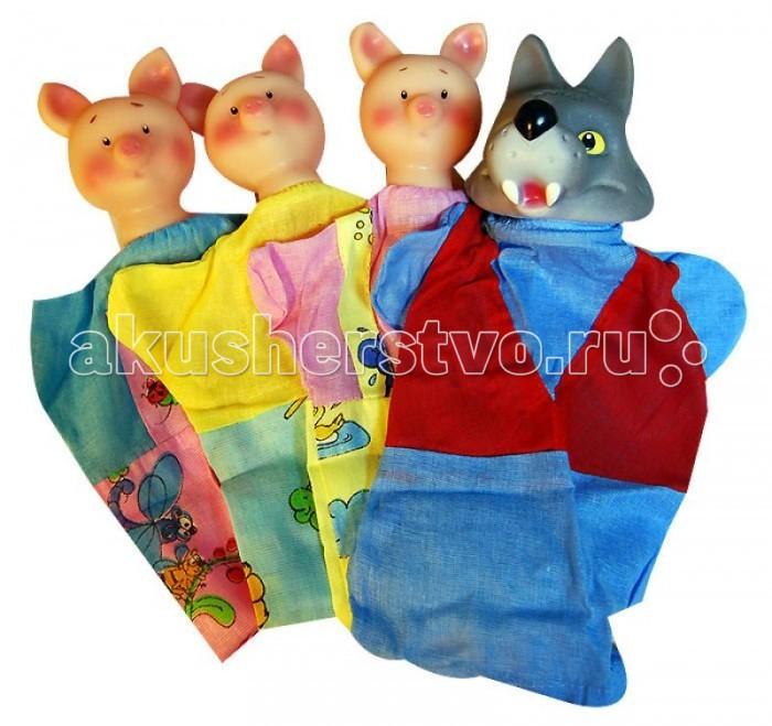 Картинка для Ролевые игры Русский стиль Кукольный театр Три поросенка 4 персонажа