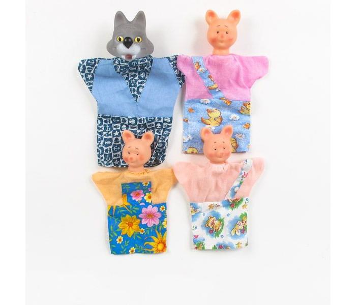ролевые игры lilliputiens пальчиковые игрушки волк и три поросенка Ролевые игры Русский стиль Кукольный театр Три поросенка 4 персонажа 11006