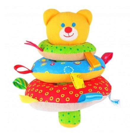 Погремушки Мякиши Пирамидка Мишка 322 краснокамская игрушка развивающая пирамидка кольцевая