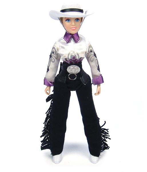 Breyer Кукла Тэйлор девушка-ковбойКукла Тэйлор девушка-ковбойКукла Тейлор - девушка-ковбой станет замечательным дополнениям к моделям лошадей Breyer из серии Traditional. Благодаря шарнирным конечностям куклу можно посадить в седло и придать ей практически любое положение. Кукла одета в традиционный ковбойский костюм, и будет замечательно смотреться на лошади в вестерн-амуниции. Одежда снимается, поэтому куклу можно переодеть и превратить из ковбоя в ветеринара или, например, спортсмена.  В набор входит: Кукла Тэйлор в одежде: Джинсы с темной бахромой Рубашка с розовым рисунком Белая шляпа Ботинки   Все изготовлено из высококачественных материалов, экологично и абсолютно безопасно.   Рекомендовано детям от 4 лет.   Масштаб 1:9   Размер куклы 20 см  Помимо игровых и коллекционных моделей лошадей Breyer разработали целый ряд разнообразных аксессуаров, позволяющих сделать игру еще более интересной и увлекательной, и создавать целые сценки из жизни любимых лошадок на полке у ребенка.<br>