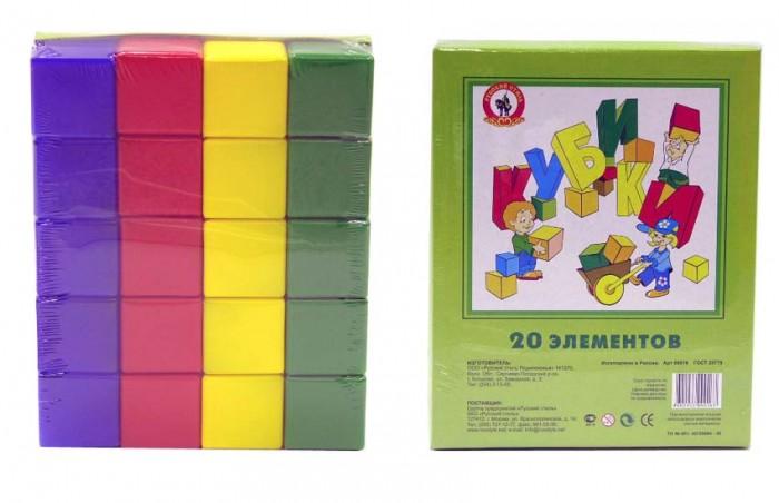 Развивающие игрушки Русский стиль Кубики 20 элементов развивающие игрушки русский стиль игрушка гриб 9 см
