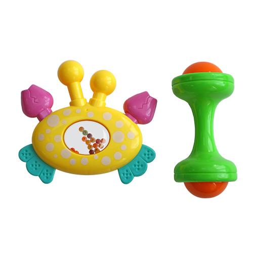 Погремушки Lubby Крабик и гантелька погремушки amico развивающая игрушка гантелька ферма
