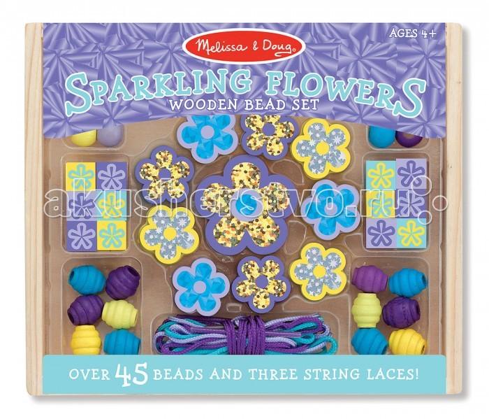 Наборы для творчества Melissa & Doug Набор бусин Сияющие цветы набор для творчества цветы семирамиды гиацинт