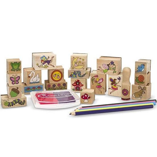 Развитие и школа , Принадлежности для рисования Melissa & Doug Набор печатей Сад для Фей арт: 38218 -  Принадлежности для рисования