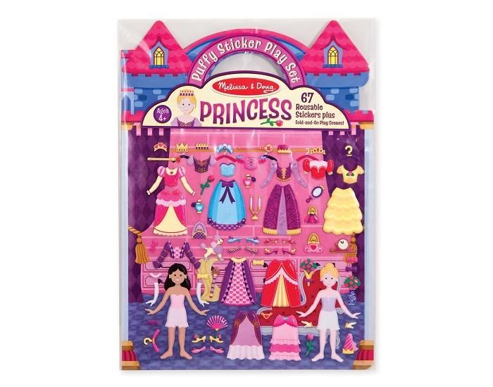 детские зонтики melissa Детские наклейки Melissa & Doug Набор со стикерами и фоном Принцессы