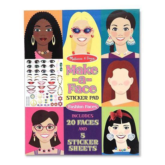 Детские наклейки Melissa & Doug Набор со стикерами и фоном Лица