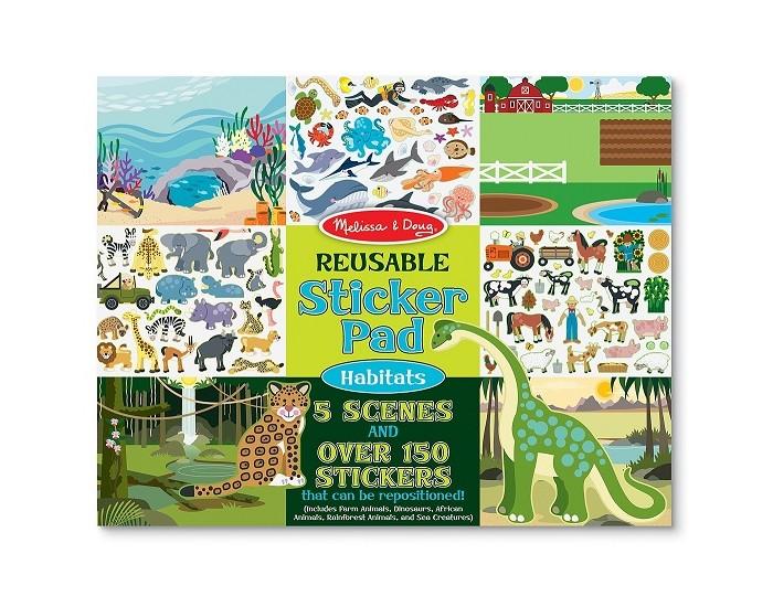 Детские наклейки Melissa & Doug Набор со стикерами и фоном Среда Обитания