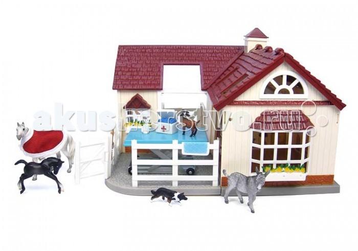 Breyer Набор Госпиталь для животных с его обитателямиНабор Госпиталь для животных с его обитателямиВсе животные линейки Stablemates являются игровыми моделями. Это не только лошади, но и быки, ламы, кошки и собаки, которые, несмотря на свои миниатюрные размеры, похожи на реальных животных. Яркие и красивые, сделают первое знакомство ребенка с миром домашних животных веселым и запоминающимся.  В набор Госпиталь с его обитателями входит: Лошадь Жеребенок Осел Коза Собака Кошка Попона Операционный стол Аксессуары для перевязки   Все изготовлено из высококачественных материалов, экологично и абсолютно безопасно.    Рекомендовано детям от 4 лет.   Размер больницы для лошадей Д х Ш х В - 28.6 см х 27 см х 20 см<br>