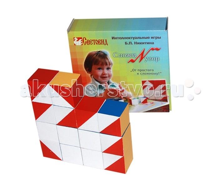 Развивающие игрушки Световид Игра Сложи узор коробка картон сложи узор по форме и цвету