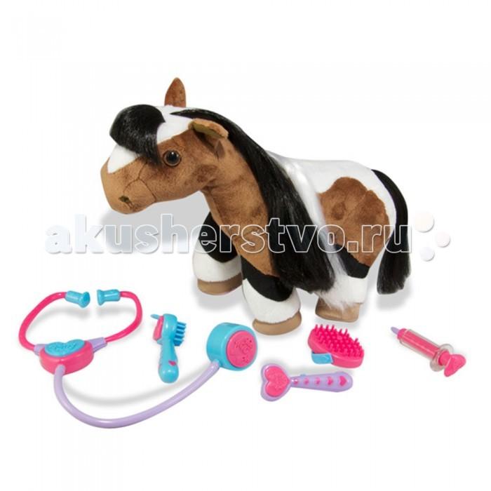 Интерактивная игрушка Breyer плюшевая лошадка Хлояплюшевая лошадка ХлояПлюшевая лошадка Хлоя с набором ветеринарных инструментов.   Хлоя не просто плюшевая лошадка, она спортсменка. Любит участвовать в соревнованиях и побеждать именно поэтому она так тщательно следит за своим здоровьем и любит посещать ветеринара. В наборе вы найдете все, чтобы провести осмотр, а Хлоя будет забавно реагировать на все процедуры.   Расчешите Хлое челку, она будет фырчать от удовольствия.   Если приложить стетоскоп к ее груди, можно услышать биение сердца, Посветите отоскопом, осмотрев Хлое ушки.   Хлоя знает как важно лечится, и даже если вы решите сделать ей укол она не обидится, ни лягнется, вы лишь услышите ее ржание.   Почистите ей копытца и в ответ она радостно повиляет хвостом.   Мы уверены, что Хлоя подарит много радостных минут детям любого возраста и взрослым.  В набор входят: Плюшевая лошадь Хлоя Отоскоп для ушей Стетоскоп Шприц Расческа для гривы и хвоста Щетка для копыт   Рекомендованный возраст от 3-х лет.   Все изготовлено из высококачественных материалов, экологично и абсолютно безопасно.    Размер лошади 32 см<br>
