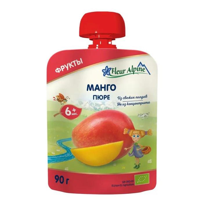 Пюре Fleur Alpine Пюре Органик манго с 6 мес. 90 г (пауч) манго производство таиланд 1 шт
