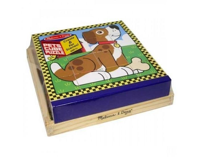 Развивающие игрушки Melissa & Doug Пазл из кубиков Домашние животные