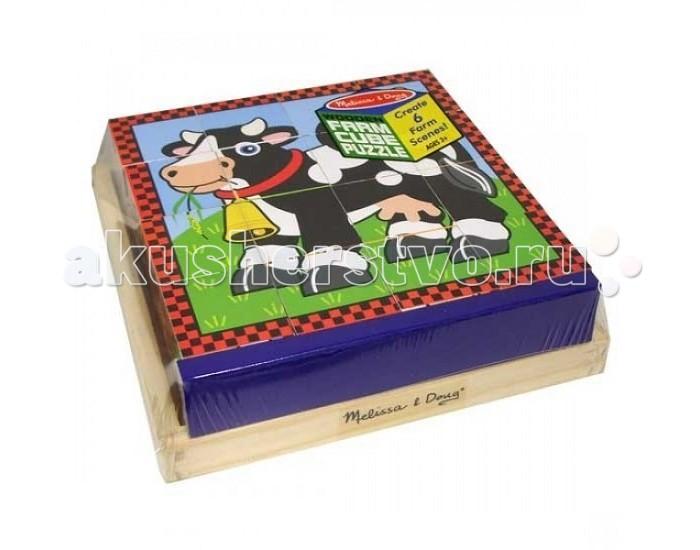 Развивающая игрушка Melissa & Doug Пазл из кубиков Ферма