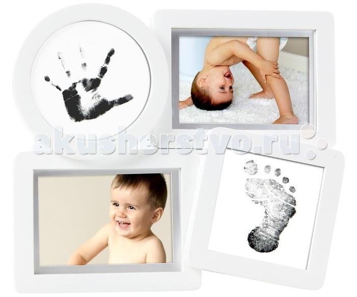 Фото - Фотоальбомы и рамки Pearhead Рамочка четыре окошка с отпечатком фотоальбомы и рамки pearhead альбом журнал о ребеночке
