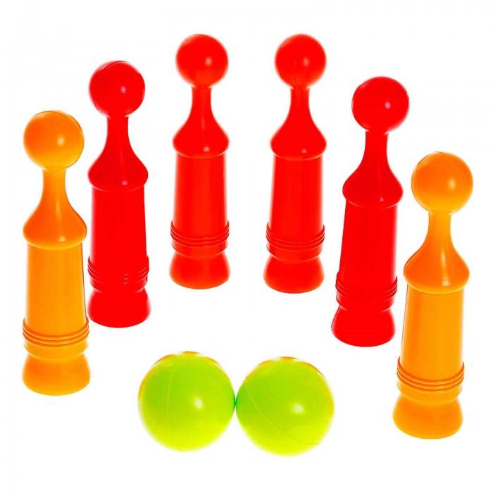 Спортивный инвентарь Росигрушка Кегли №1 (8 деталей) спортивные игровые наборы кассон кегли 5 кеглей 2 мяча