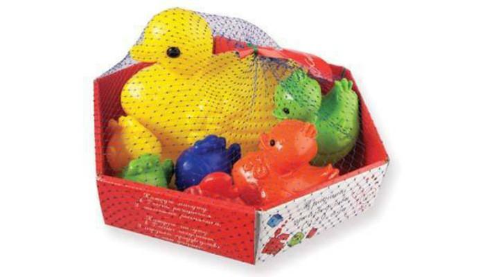 Игрушки для ванны Росигрушка Набор для купания Ути-пути (7 деталей) игрушки для ванны tolo toys набор ведерок квадратные