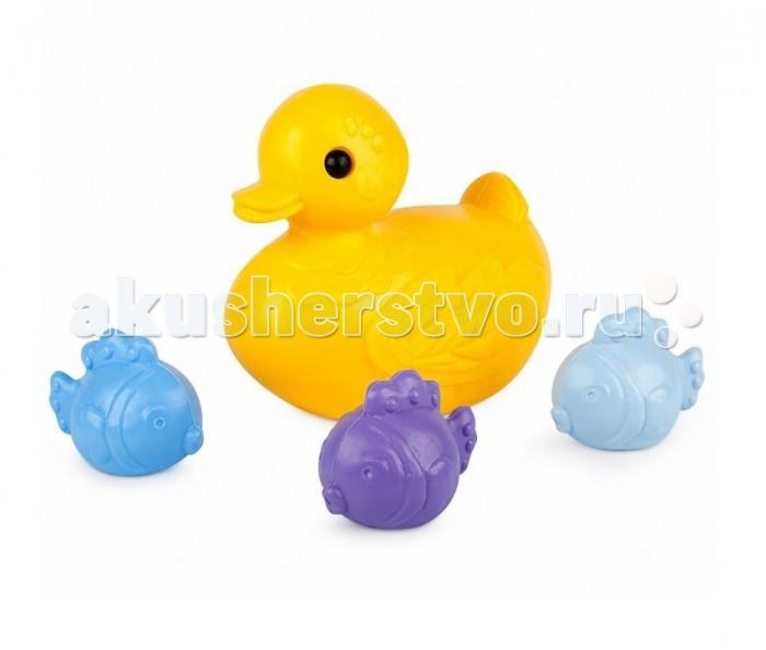 Игрушки для ванны Росигрушка Набор для купания Уточка и рыбки (4 детали) игрушки для ванны росигрушка набор для купания для девочек утята 3 детали