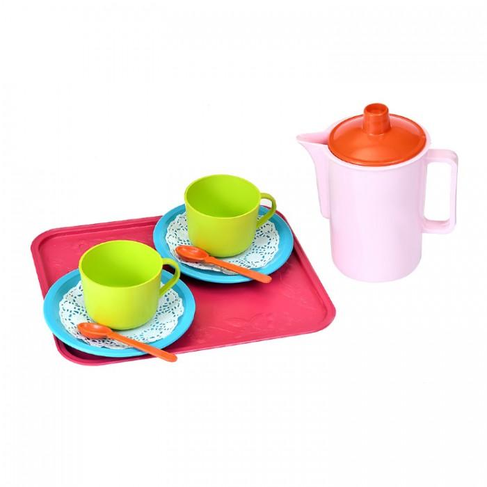 Ролевые игры Росигрушка Набор посуды чайный Кисельные берега (9 деталей) ролевые игры playgo набор посуды 3392