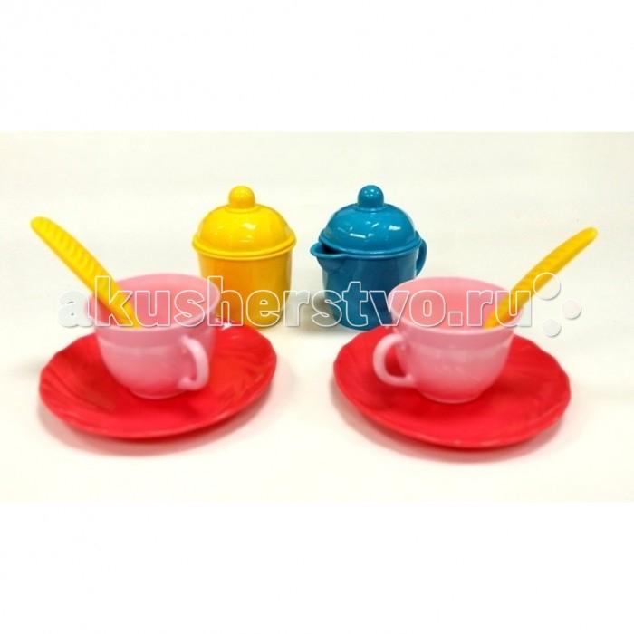 Ролевые игры Росигрушка Набор посуды чайный Очарование (10 деталей) набор посуды игрушечный 1 toy чайный сервиз