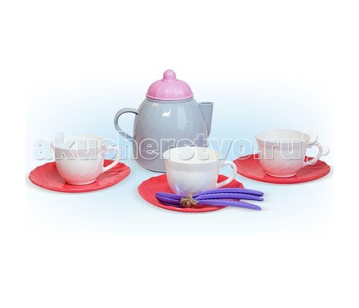 Ролевые игры Росигрушка Набор посуды чайный Розовый зефир (11 деталей) стеллар детская посуда чайный набор