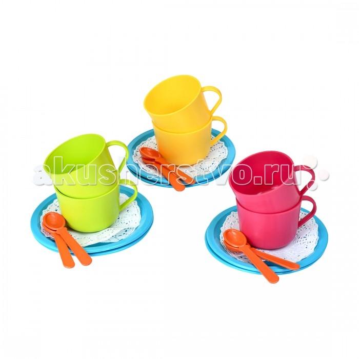 Ролевые игры Росигрушка Набор посуды чайный Сладкоежка (18 деталей) постеры кошка сладкоежка