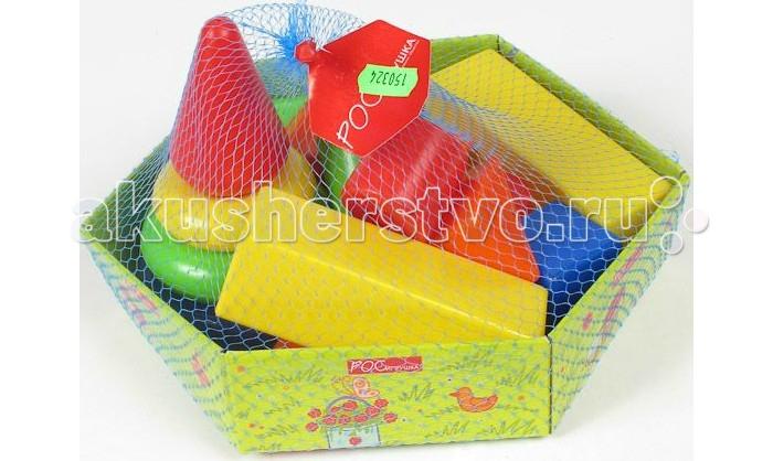 Развивающие игрушки Росигрушка Набор Клепа пирамида+фигуры (16 деталей) learning resources набор пирамида из пончиков
