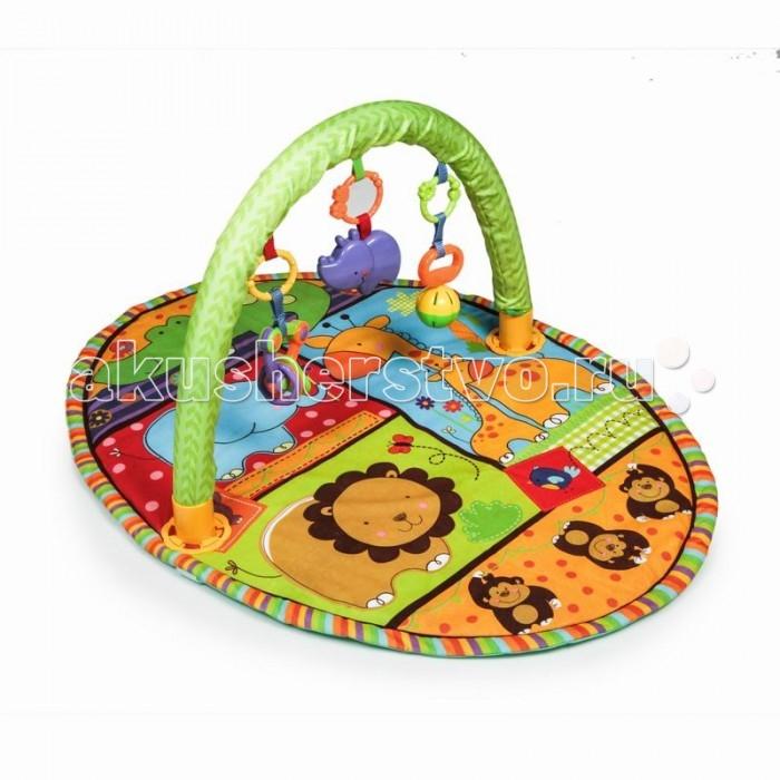 Развивающий коврик Yako ОазисОазисYako Развивающий коврик Оазис  предназначен для девочек и мальчиков в возрасте от 0 месяцев.  Коврик сможет привлечь внимание любого ребенка благодаря своему яркому и красивому оформлению. Он украшен забавными изображениями различных животных.  В комплекте: Дуга Игрушки<br>