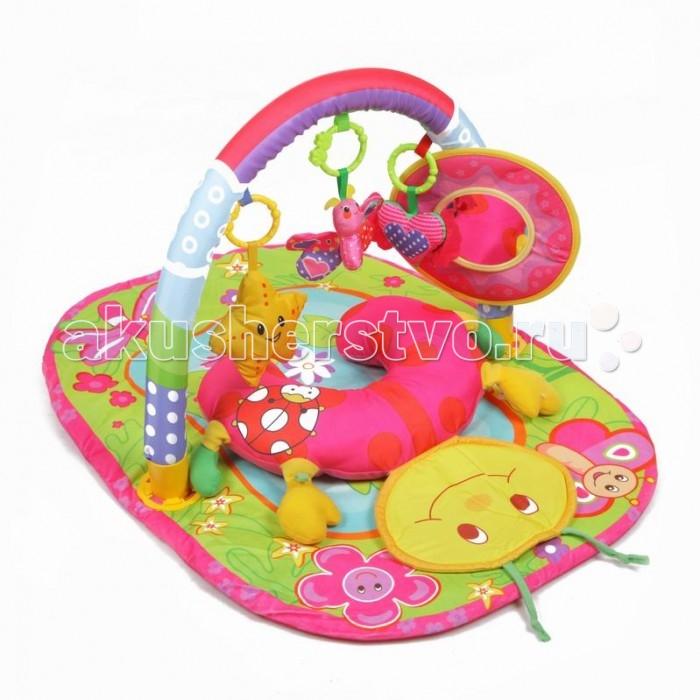 Развивающий коврик Yako СверчокСверчокYako Развивающий коврик Сверчок предназначен для девочек и мальчиков в возрасте от 0 месяцев.  Напольный многофункциональный игровой комплекс с яркими изображениями, разноцветными подвесками и безопасным зеркалом способствует развитию мелкой моторики, зрения и тактильного восприятия ребенка.  3 мягкие игрушки-пищалки:сердечко, птичка и звездочка для развития моторики и слуха 1 мягкая игрушка-шуршалка в форме бабочки научит вашего малыша разнообразию ощущений Большое безопасное зеркальце в форме солнышка позволит ребенку изучить мир вокруг него, а также свое отражение. Использованы разнообразные тактильные материалы Разноцветный красочный дизайн в стиле водоема и потрясающий материал (велюр нового поколения) Все игрушки, подвешенные на дугах, можно снять с колец и использовать отдельно от коврика Компановка элементов коврика вдохновляет ребенка к движению и игре; Удобная мягкая подушечка может служить ограничителем для головки, поддержкой под грудью малыша в положении лежа на животике. Коврик можно использовать как с дугой так и без нее, Можно стирать в режиме деликатной стирки, при температуре не более 30 градусов, не отбеливать. Сушить естественным образом. Размер коврика (ДхШхВ): 82 х 62 х 43 см<br>