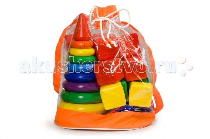 Развивающие игрушки Росигрушка Набор Радуга Макси пирамида+кубики (24 детали) кубики мди