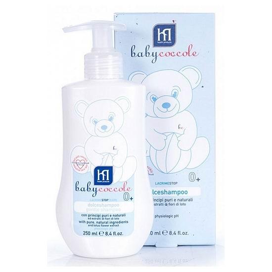 Косметика для новорожденных Babycoccole Шампунь мягкий без слез 250 мл babycoccole зубная паста со вкусом банана 75мл babycoccole