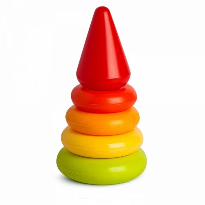 росигрушка пирамидка медвежонок Развивающие игрушки Росигрушка Пирамида Кроша 16 см (6 деталей)