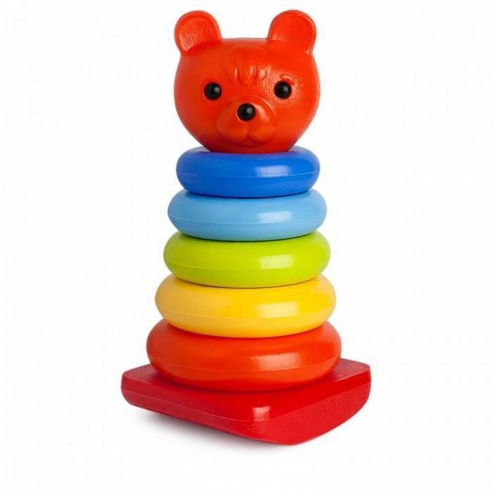 росигрушка пирамидка медвежонок Развивающие игрушки Росигрушка Пирамида-качалка Медвежонок 26 см (8 деталей)
