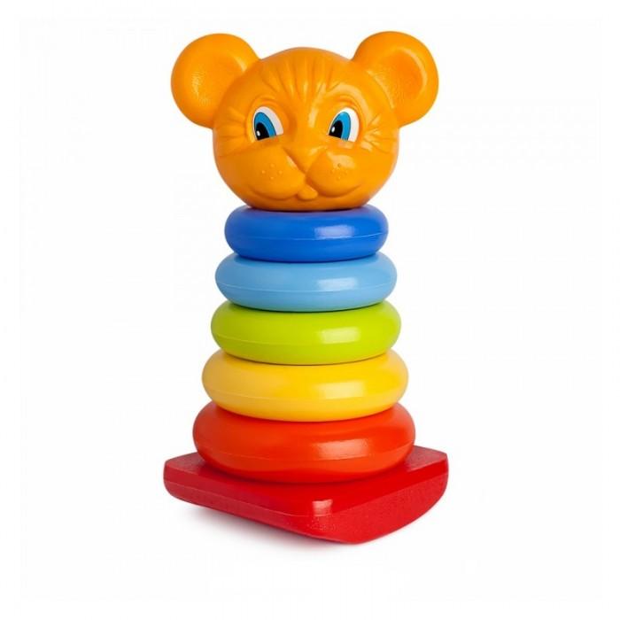 росигрушка пирамидка медвежонок Развивающие игрушки Росигрушка Пирамида-качалка Тигренок 26 см (8 деталей)