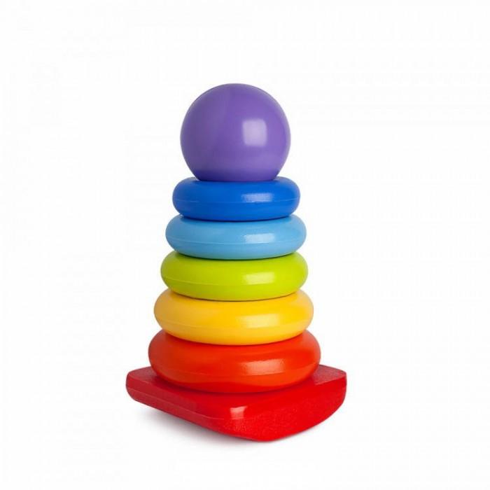 росигрушка пирамидка медвежонок Развивающие игрушки Росигрушка Пирамида-качалка Шарик 23 см (8 деталей)