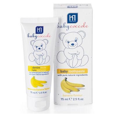 Гигиена полости рта Babycoccole Зубная паста банан 75 мл зубная паста babycoccole клубника 75 мл