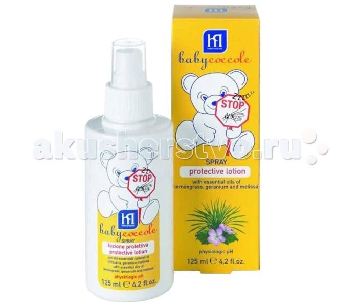 Средства от насекомых Babycoccole Защитный лосьон от комаров 125 мл babycoccole защитный крем от комаров 75мл babycoccole