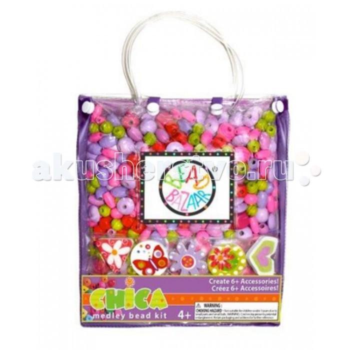 Bead Bazaar Сумочка большая Фиолетовая 2032 bead bazaar трапеция
