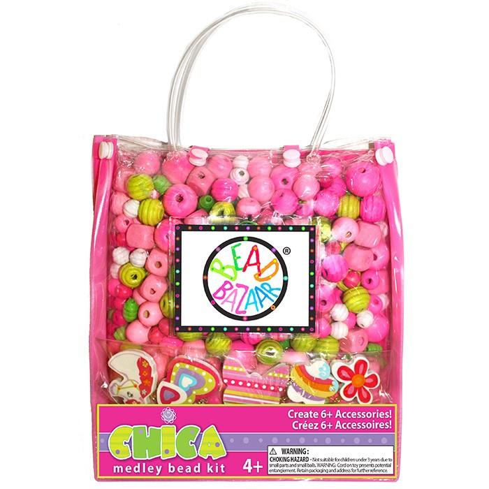 Bead Bazaar Сумочка большая Розовая 2031