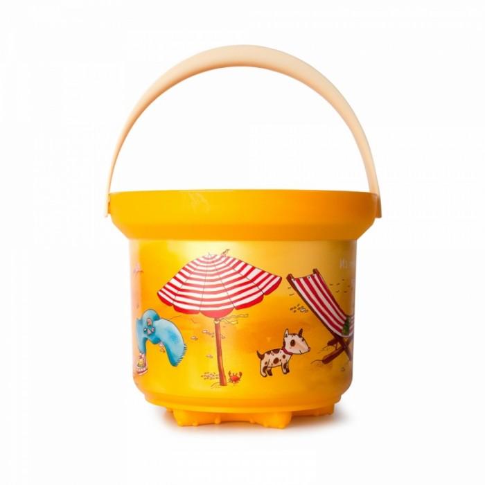 Игрушки в песочницу Росигрушка Ведро-формочка Пляж 1л Ушли купаться игрушки в песочницу quut формочка для песка sunnylove