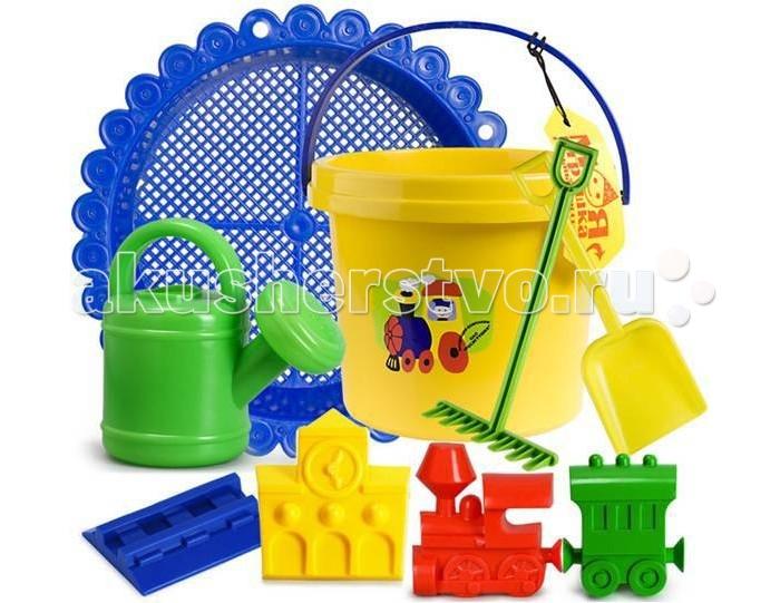 Игрушки в песочницу Росигрушка Песочный набор Директор песочницы (9 деталей) полесье набор для песочницы 469