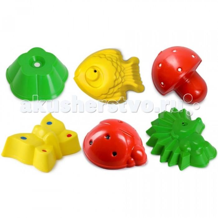 Игрушки для зимы Росигрушка Песочный набор Лесная полянка (6 деталей) суперпредложение набор грибов домашняя полянка из 5 упаковок